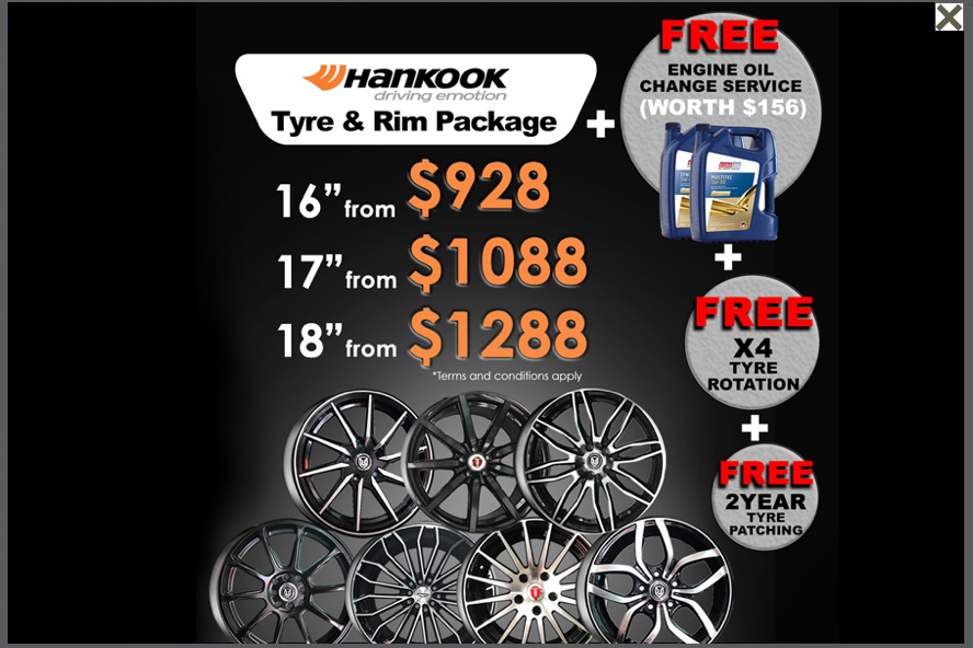 Hankook Tyres - Singapore official importer/distributor